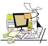 Messy desk vector illustration