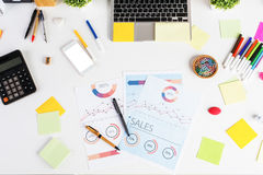 Free Messy Desk With Mobile Phone Stock Images - 78950394