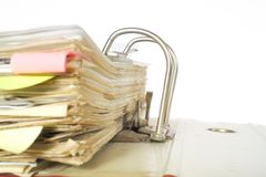 Messy file folder Stock Photo
