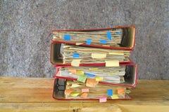 Messy file folders Stock Photos