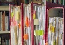 Messy file folders Stock Image