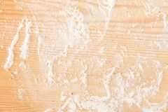 Messy floured wooden surface/ background. Messy floured wooden surface/ background Stock Photography