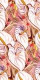 Messy garden flower paint pattern vector textured stock illustration