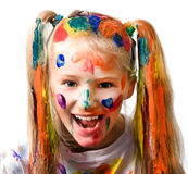 Messy girl Royalty Free Stock Photos