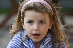 Messy Girl - Blue Eyes Stock Photography