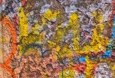 Messy graffiti metal wall stock photos