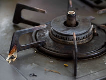 Messy greasy gas stove. Japanese messy greasy gas stove Royalty Free Stock Photo