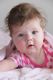Messy Hair Baby - 6 Months old Royalty Free Stock Image