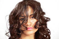 Messy hair girl Royalty Free Stock Photography