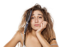 Messy hair Stock Images