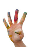 Messy hand with colour Royalty Free Stock Image
