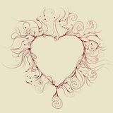Messy Hand Drawn Heart Illustration. Lines and background are on separate layers. Drawn lines are all separate for easy manipulation vector illustration