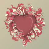 Messy Hand Drawn Heart Illustration Stock Image