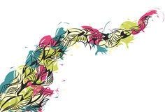 Messy Hand Drawn Painted Doodle Background Royalty Free Stock Photography