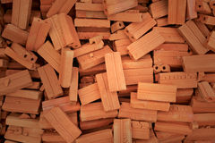 Messy heap bricks Stock Photography