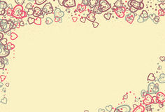 Messy heart shape page border Stock Images