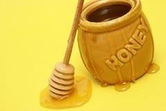 Messy Honey Jar Royalty Free Stock Photo