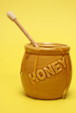 Messy Honey Jar Stock Images
