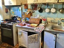Free Messy House Inside, Kitchen Stock Images - 180124084