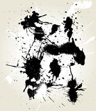 Messy ink splats Royalty Free Stock Photo