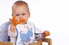 Messy kid stock photo