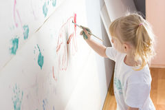 Messy kid painting Royalty Free Stock Photo