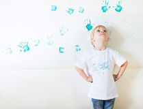 Messy kid painting Stock Images