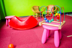 Messy Kid Play Room Royalty Free Stock Photography