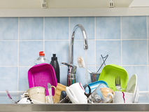 Messy Kitchen Royalty Free Stock Photography