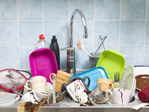 Messy Kitchen Stock Photography