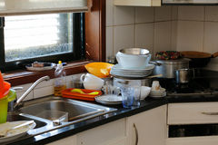 Messy kitchen Royalty Free Stock Photo