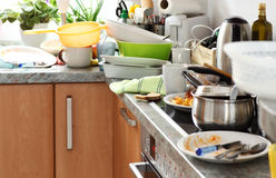 Messy kitchen Royalty Free Stock Images
