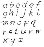 Messy lower case English letter alphabet Royalty Free Stock Image