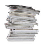 Messy magazine stack Stock Photography