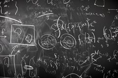 Messy Mathematics Calculation royalty free stock photography