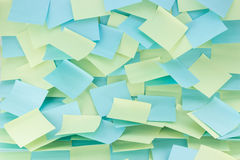 Wall of sticky notes Royalty Free Stock Photos