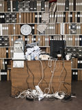 Messy Office. Overloaded desk at a messy office Stock Photography