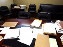 Messy Office Stock Image