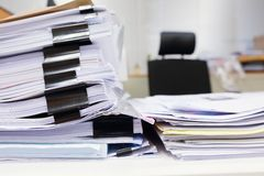 Messy office table Royalty Free Stock Image