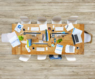 Messy Office Table with No People royalty free stock photography