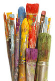 Messy Paint Brushes Royalty Free Stock Photography