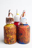 Messy paint pots Royalty Free Stock Photos