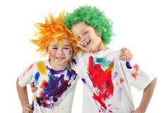 Messy painters Stock Photos
