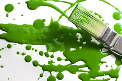 Messy painting green Royalty Free Stock Photos