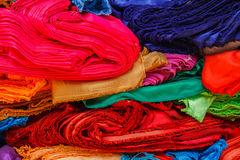 Messy pile colorful cloth Stock Photography
