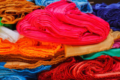 Messy pile colorful cloth Royalty Free Stock Photo