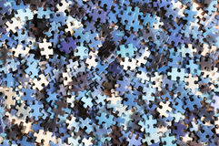 Messy pile of puzzle Royalty Free Stock Images