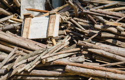 Messy pile of wood Royalty Free Stock Images