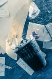 Messy place with paper Stock Images