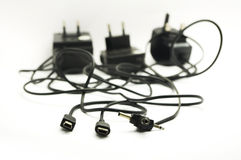 Messy plug and wire Royalty Free Stock Photography